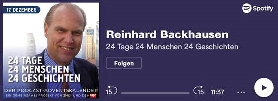 Podcast Folge mit Reinhard Backhausen auf Spotify anhören
